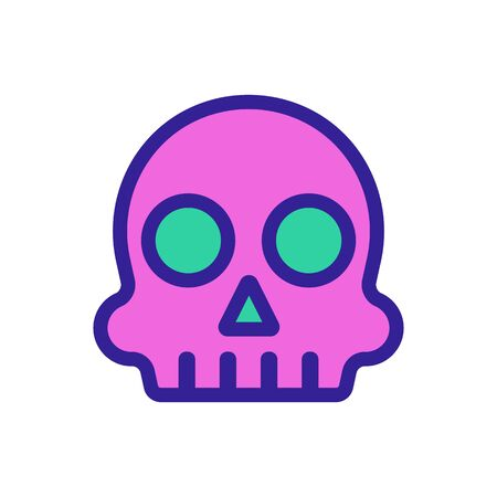Holiday Dead Icon Vector. Thin line sign. Isolated contour symbol illustration