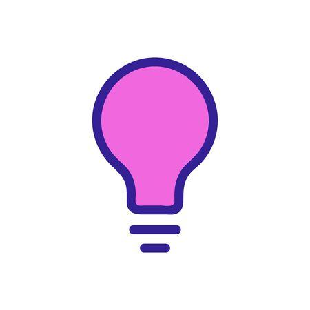 Light bulb idea icon vector. Thin line sign. Isolated contour symbol illustration