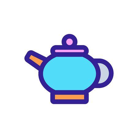 tea icon vector. Thin line sign. Isolated contour symbol illustration