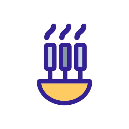 pasta icon vector. Thin line sign. Isolated contour symbol illustration