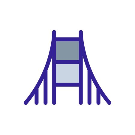 Bridge icon vector. Thin line sign. Isolated contour symbol illustration