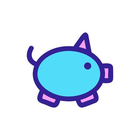 Piggy piggy bank icon vector. Thin line sign. Isolated contour symbol illustration Stock Illustratie