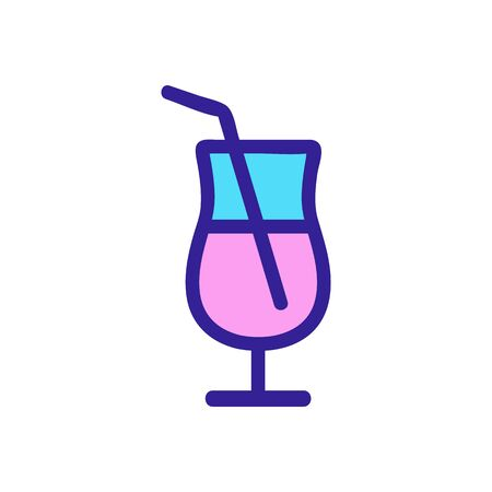 cocktail icon vector. Thin line sign. Isolated contour symbol illustration