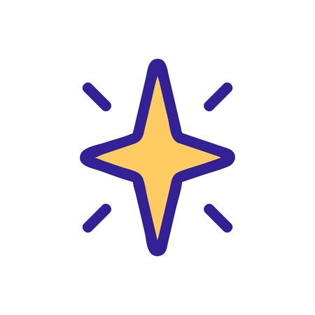 Star shining glitter icon vector. Thin line sign. Isolated contour symbol illustration  イラスト・ベクター素材