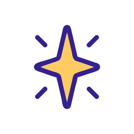 Star shining glitter icon vector. Thin line sign. Isolated contour symbol illustration Illustration