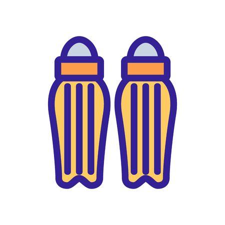 Cricket protection icon vector. Thin line sign. Isolated contour symbol illustration Ilustração