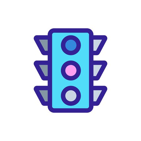 traffic light icon vector. Thin line sign. Isolated contour symbol illustration