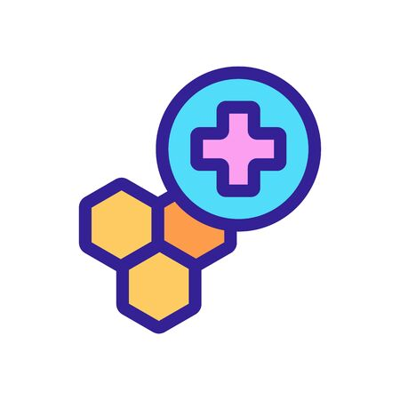 Honey pharmacy icon vector. Thin line sign. Isolated contour symbol illustration