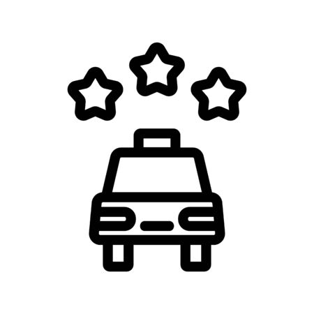 Taxi icon vector rating. Thin line sign. Isolated contour symbol illustration Ilustracja