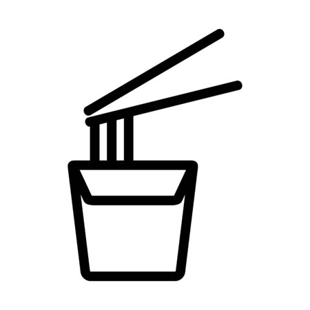 Noodles icon vector. Thin line sign. Isolated contour symbol illustration