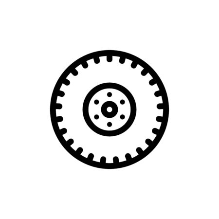 tire icon vector. Thin line sign. Isolated contour symbol illustration 스톡 콘텐츠 - 139811484