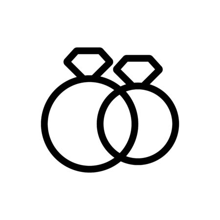Ring Wedding Ring Icon Vector. Thin line sign. Isolated contour symbol illustration