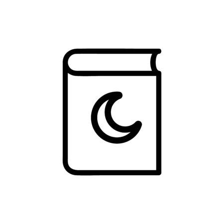 Koran icon vector. Thin line sign. Isolated contour symbol illustration