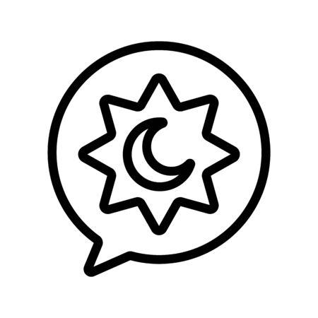 Night Ramadan icon vector. Thin line sign. Isolated contour symbol illustration