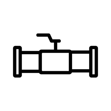 Plumbing pipe icon vector. Thin line sign. Isolated contour symbol illustration