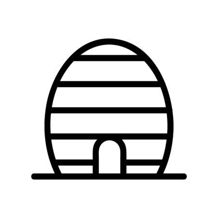 Honey hive apiary icon vector. Thin line sign. Isolated contour symbol illustration Ilustração