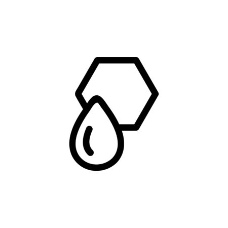 The honey drop drains the icon vector. Thin line sign. Isolated contour symbol illustration