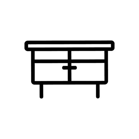 table icon vector. Thin line sign. Isolated contour symbol illustration
