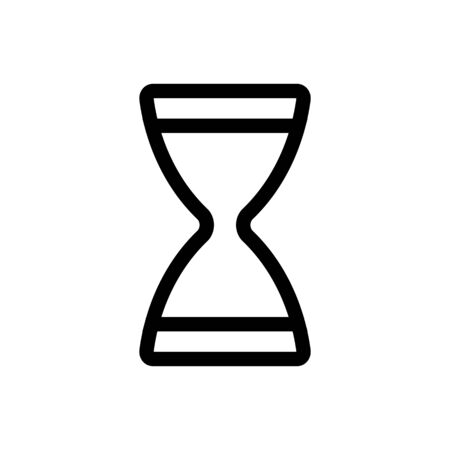 hourglass icon vector. Thin line sign. Isolated contour symbol illustration  イラスト・ベクター素材