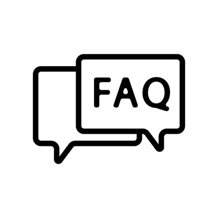 questions and answers icon vector. Thin line sign. Isolated contour symbol illustration Vectores