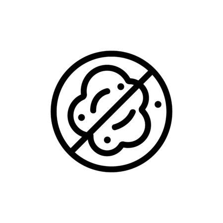Vector icono de polvo. Signo de línea delgada. Ilustración de símbolo de contorno aislado Ilustración de vector