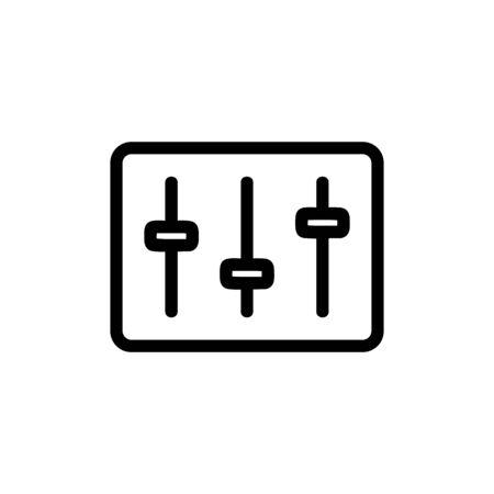 DJ mixer icon vector. Thin line sign. Isolated contour symbol illustration Illusztráció