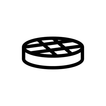 steak meat icon vector. Thin line sign. Isolated contour symbol illustration