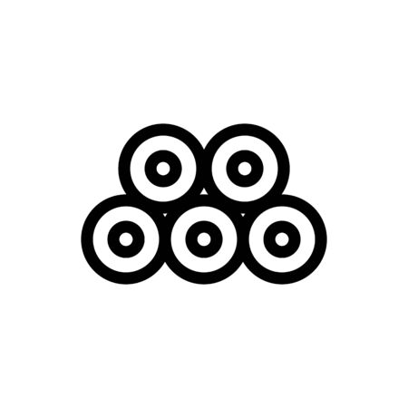 Silk thread icon vector. Thin line sign. Isolated contour symbol illustration