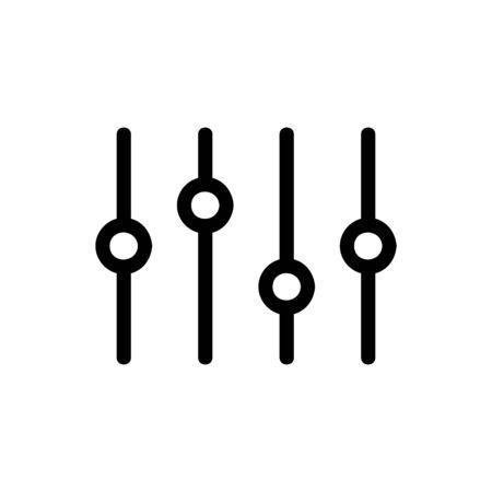 Mixer audio icon vector. Thin line sign. Isolated contour symbol illustration