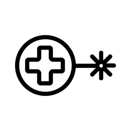 Laser welding cutting icon vector. Thin line sign. Isolated contour symbol illustration