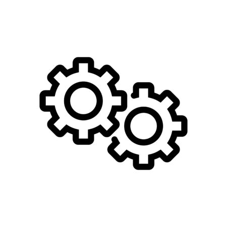 Automation icon vector. Thin line sign. Isolated contour symbol illustration Stock Illustratie