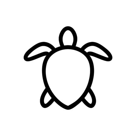 Sea skull icon vector. Thin line sign. Isolated contour symbol illustration