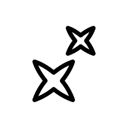 Star shining glitter icon vector. Thin line sign. Isolated contour symbol illustration