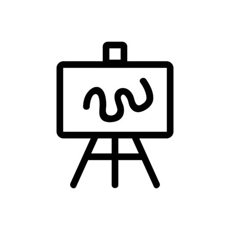 easel icon vector. Thin line sign. Isolated contour symbol illustration