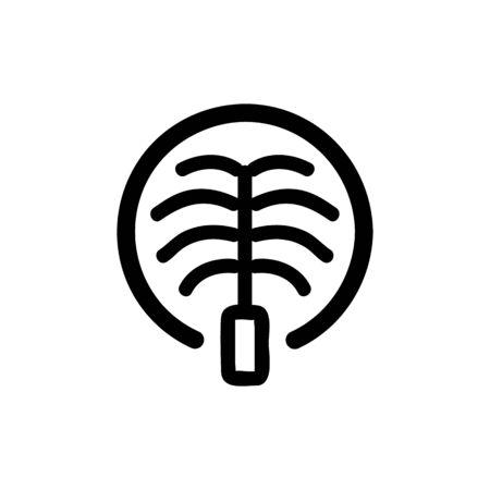 Dubai icon vector. Thin line sign. Isolated contour symbol illustration