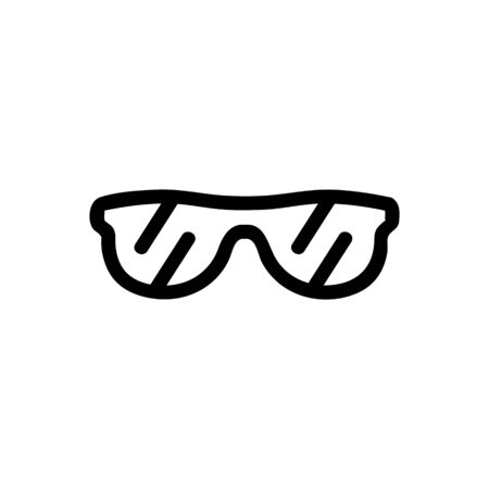 Sunglasses is an icon icon vector. Thin line sign. Isolated contour symbol illustration