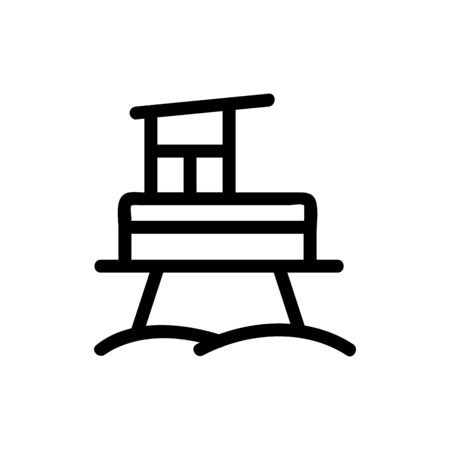 Oil platform icon vector. Thin line sign. Isolated contour symbol illustration