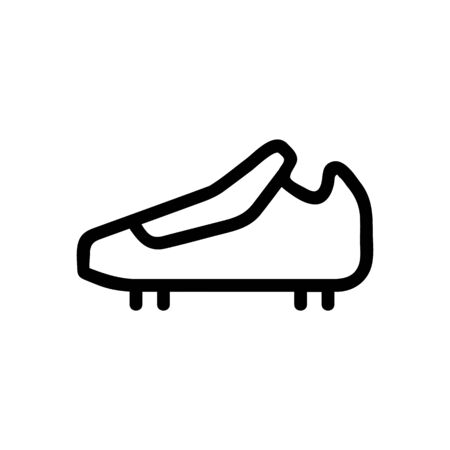 Shoes spikes icon vector. Thin line sign. Isolated contour symbol illustration Illusztráció