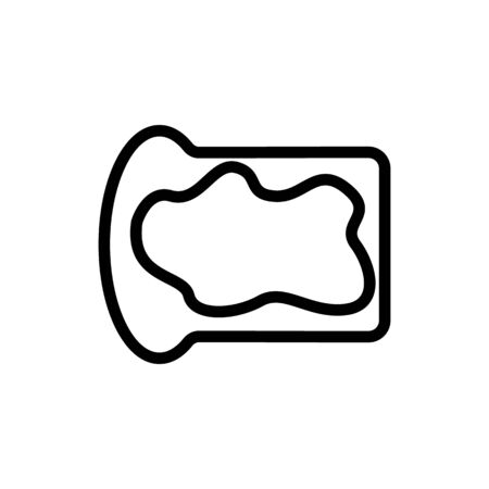 Nut butter icon vector. Thin line sign. Isolated contour symbol illustration Illustration
