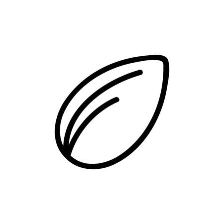 Nut icon vector. Thin line sign. Isolated contour symbol illustration