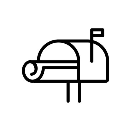 newspaper icon vector. Thin line sign. Isolated contour symbol illustration