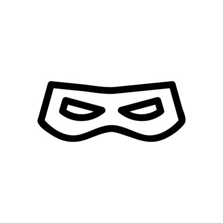 Super Hero Mask Icon Vector. Thin line sign. Isolated contour symbol illustration