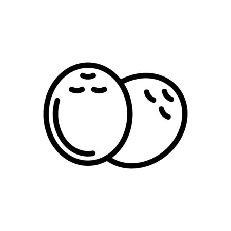 Coconut icon vector. Thin line sign. Isolated contour symbol illustration Ilustração