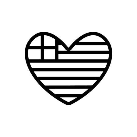 Greece flag icon vector. Thin line sign. Isolated contour symbol illustration Illustration