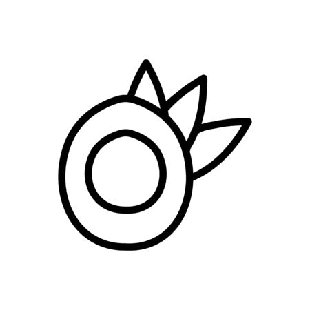 Coconut icon vector. Thin line sign. Isolated contour symbol illustration Ilustração