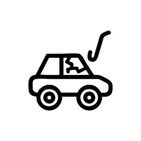 Thief car icon vector. Thin line sign. Isolated contour symbol illustration