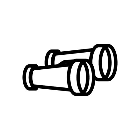 binoculars icon vector. Thin line sign. Isolated contour symbol illustration