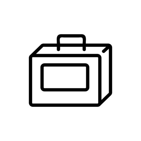Lunchbox icon vector. Thin line sign. Isolated contour symbol illustration