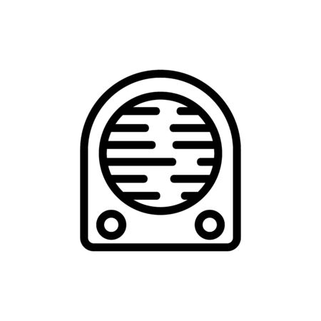 House heater icon vector. Thin line sign. Isolated contour symbol illustration