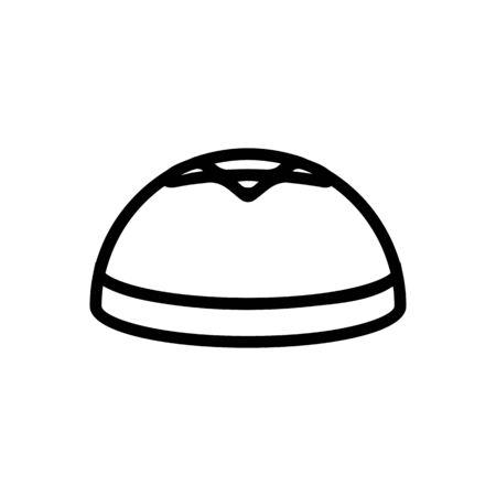 Jew hat icon vector. Thin line sign. Isolated contour symbol illustration Ilustrace